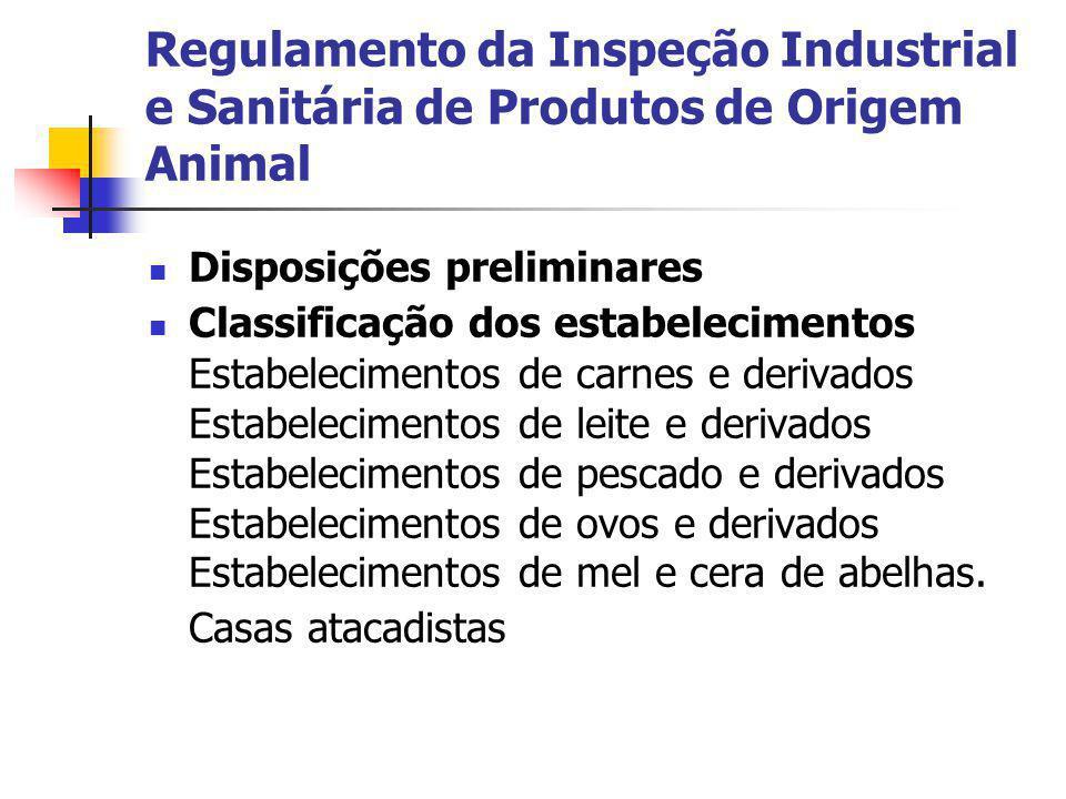 Regulamento da Inspeção Industrial e Sanitária de Produtos de Origem Animal