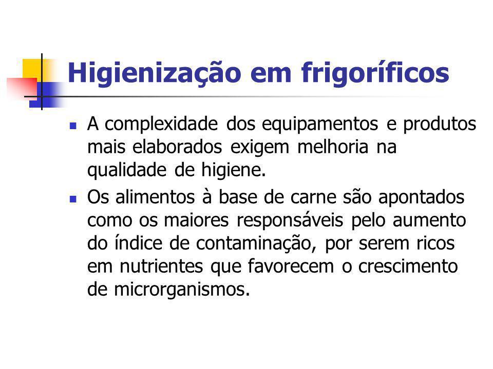 Higienização em frigoríficos