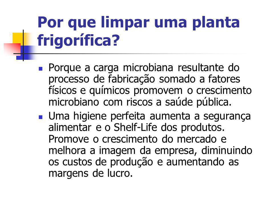 Por que limpar uma planta frigorífica