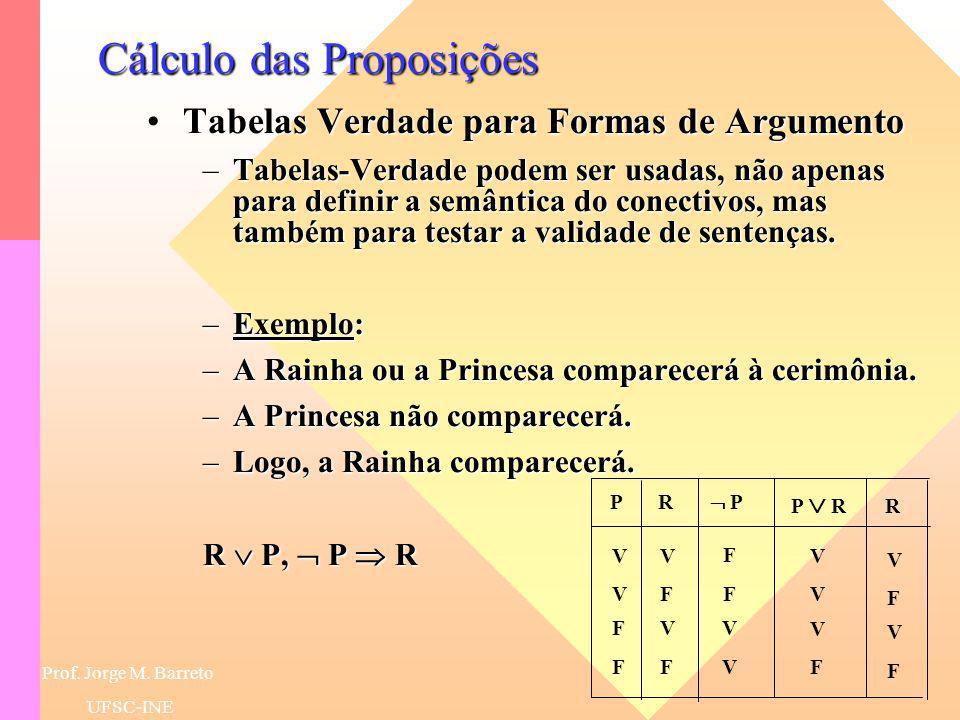 Cálculo das Proposições