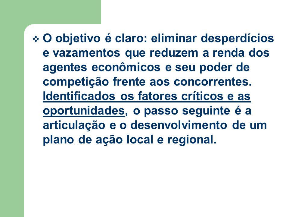 O objetivo é claro: eliminar desperdícios e vazamentos que reduzem a renda dos agentes econômicos e seu poder de competição frente aos concorrentes.
