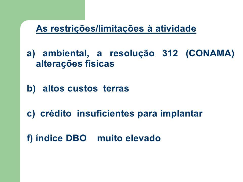 a) ambiental, a resolução 312 (CONAMA) alterações físicas