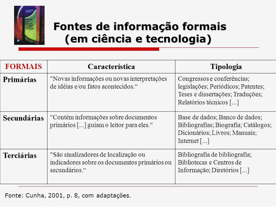 Fontes de informação formais (em ciência e tecnologia)
