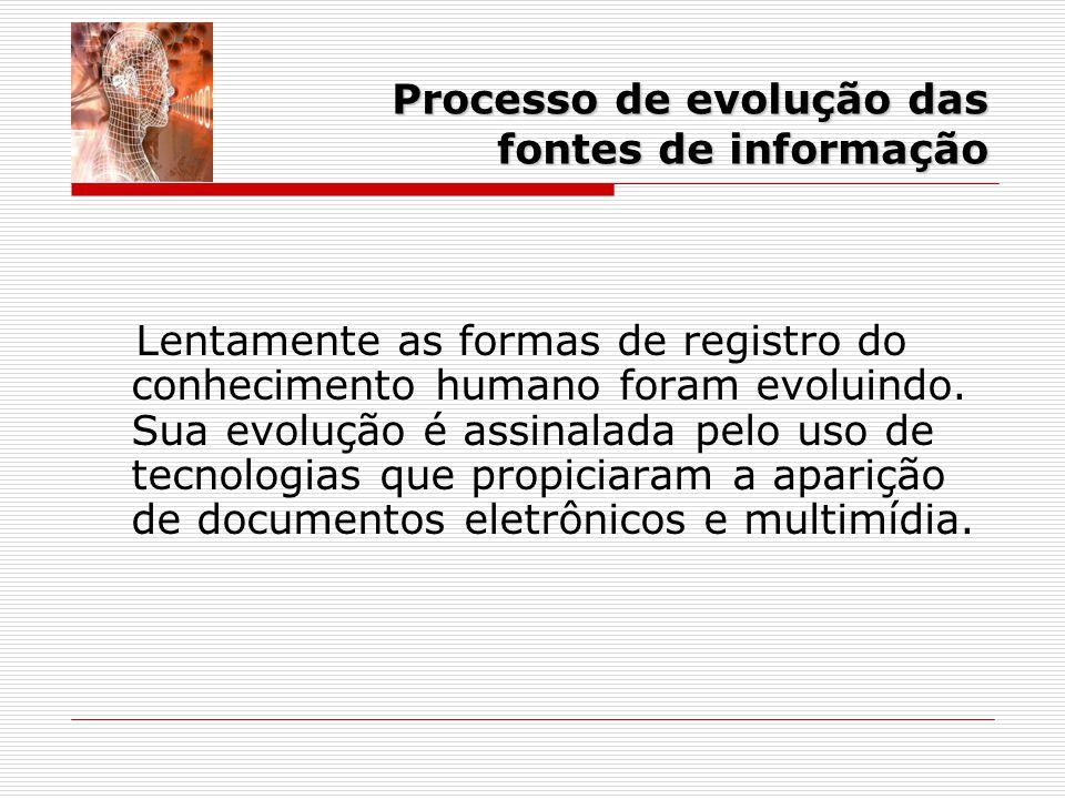 Processo de evolução das fontes de informação