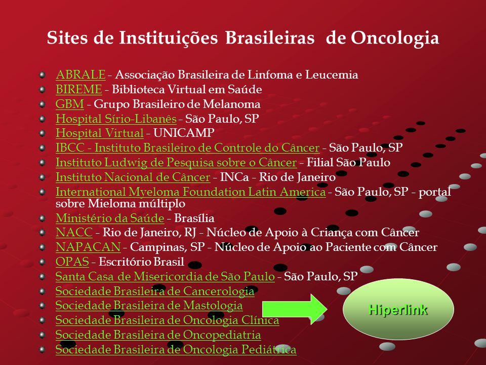 Sites de Instituições Brasileiras de Oncologia