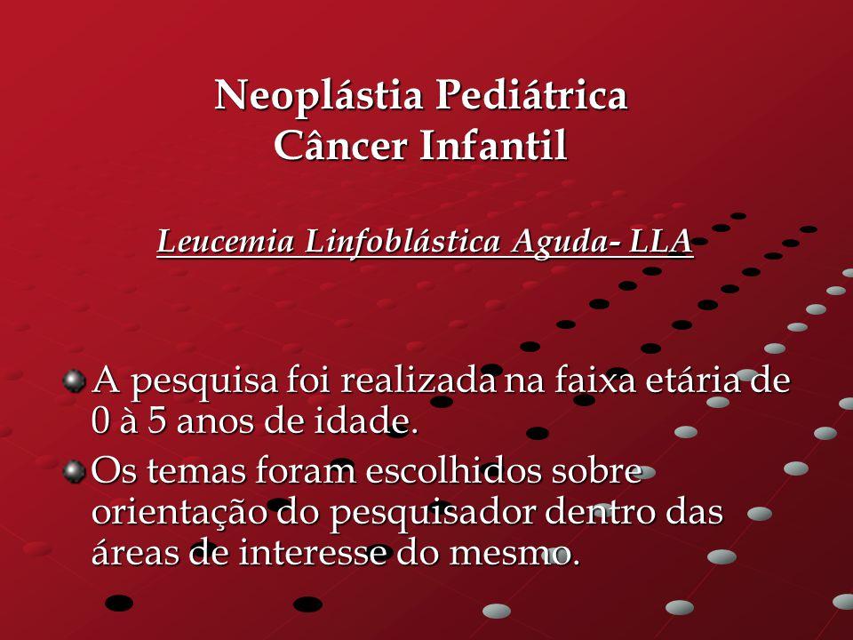 Neoplástia Pediátrica Câncer Infantil Leucemia Linfoblástica Aguda- LLA