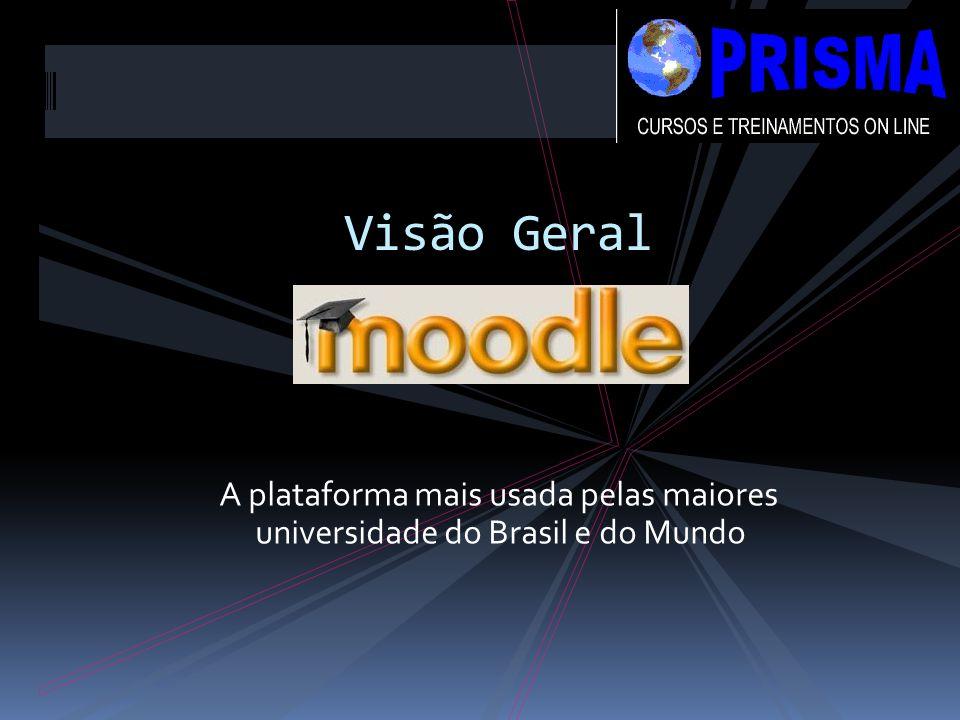 Visão Geral A plataforma mais usada pelas maiores universidade do Brasil e do Mundo