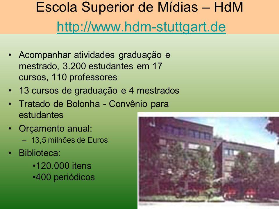 Escola Superior de Mídias – HdM http://www.hdm-stuttgart.de