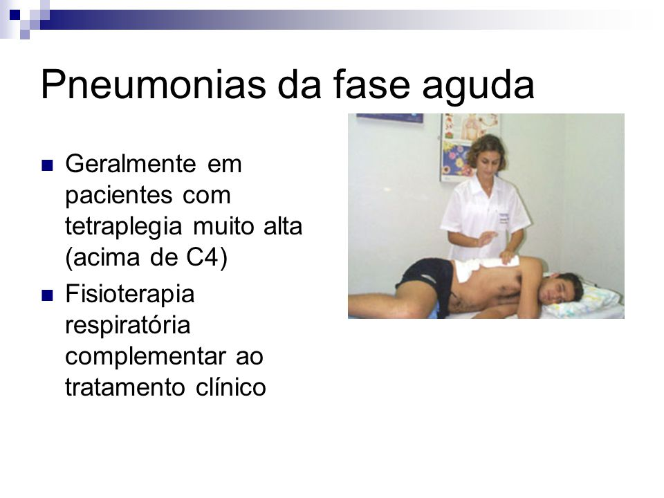 Pneumonias da fase aguda