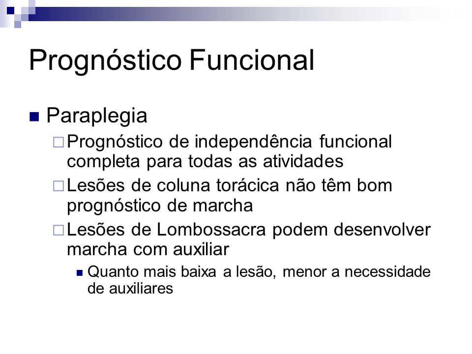 Prognóstico Funcional