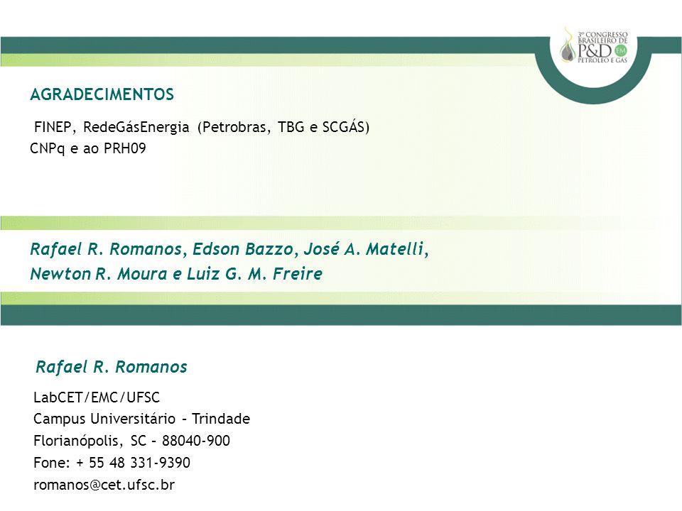 FINEP, RedeGásEnergia (Petrobras, TBG e SCGÁS) CNPq e ao PRH09