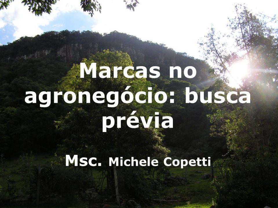 Marcas no agronegócio: busca prévia Msc. Michele Copetti