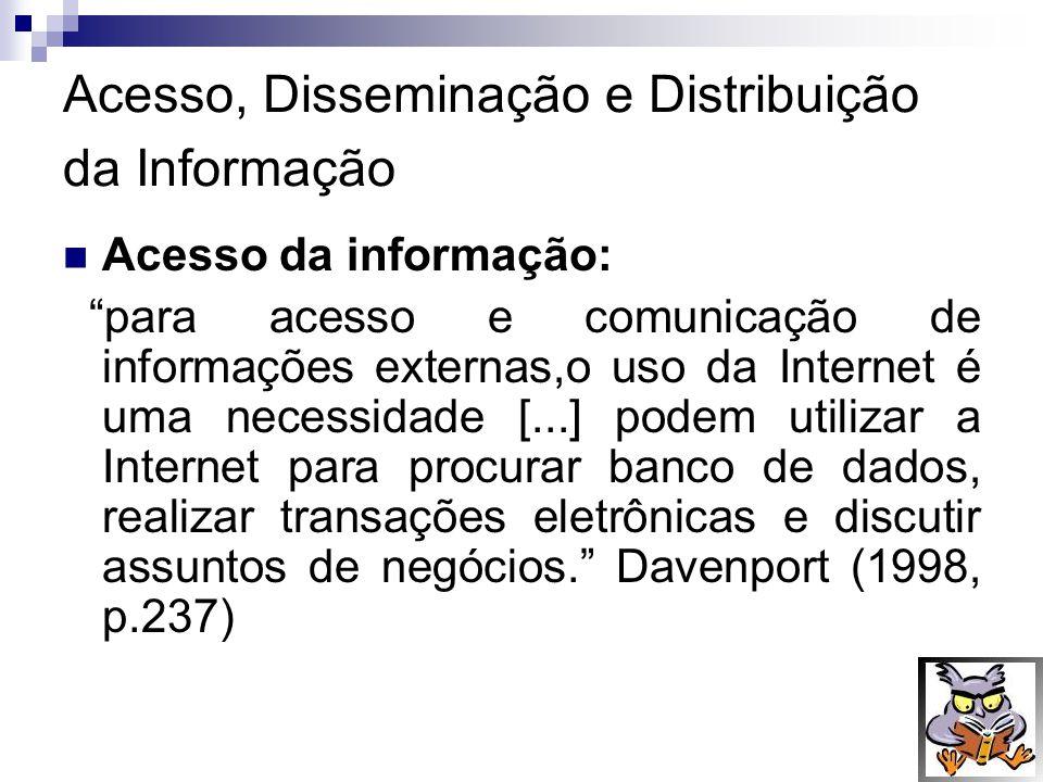 Acesso, Disseminação e Distribuição da Informação
