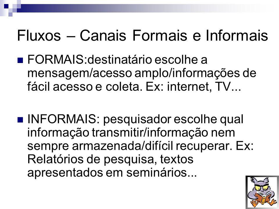 Fluxos – Canais Formais e Informais
