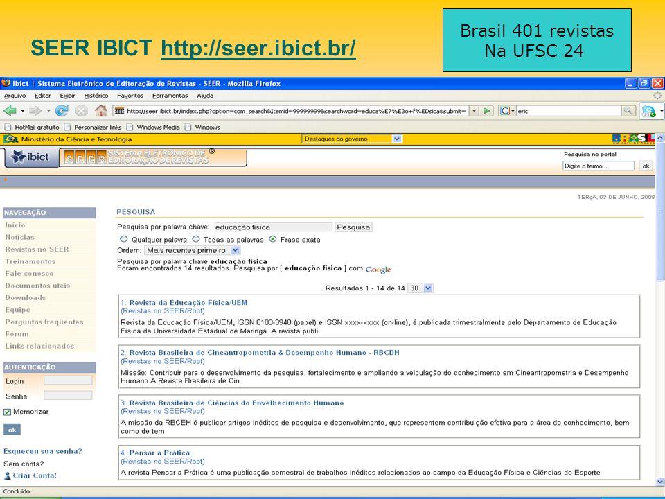 SEER IBICT http://seer.ibict.br/