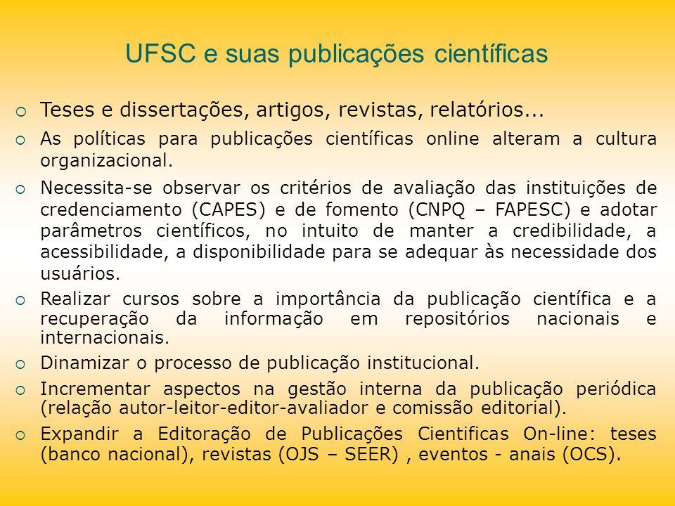 UFSC e suas publicações científicas