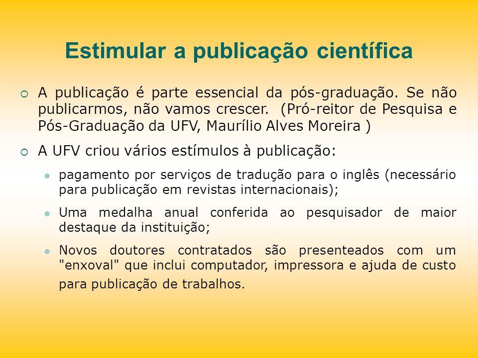 Estimular a publicação científica