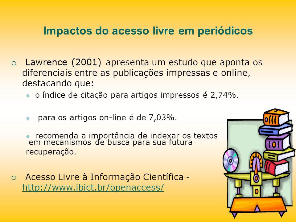 Impactos do acesso livre em periódicos
