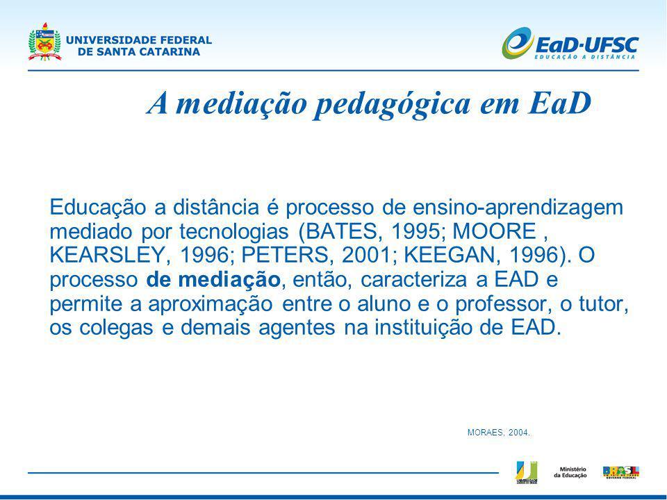A mediação pedagógica em EaD