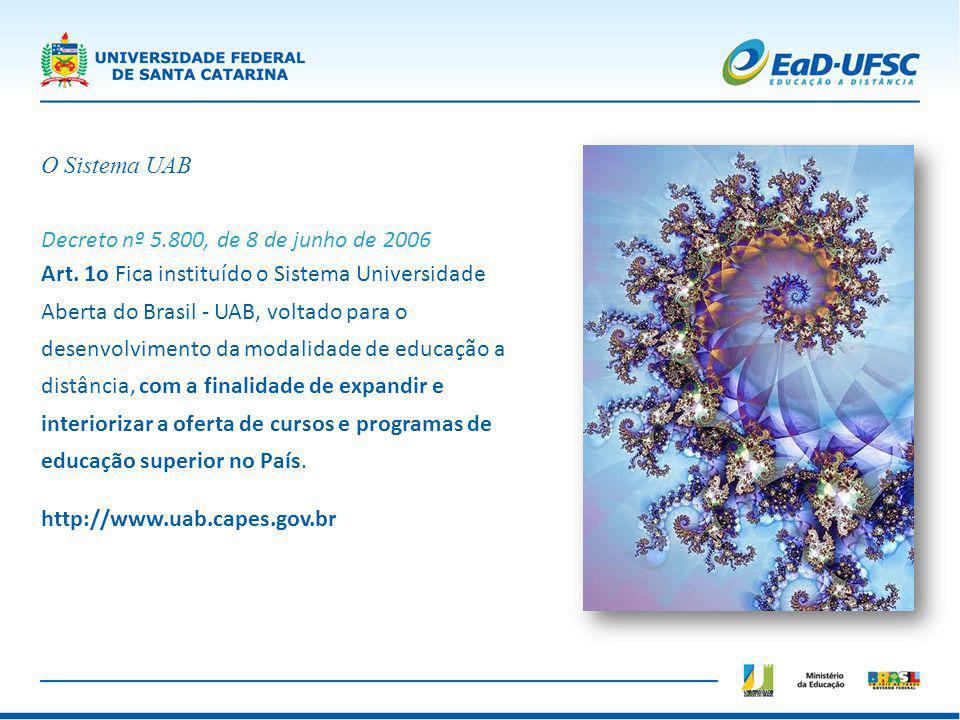 O Sistema UAB Decreto nº 5.800, de 8 de junho de 2006.