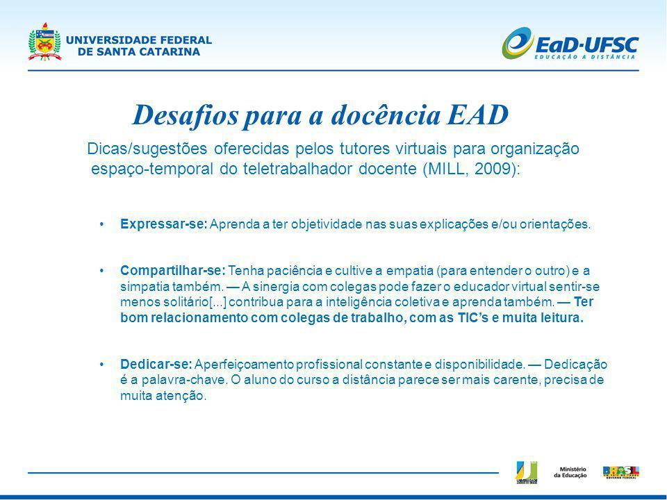 Desafios para a docência EAD