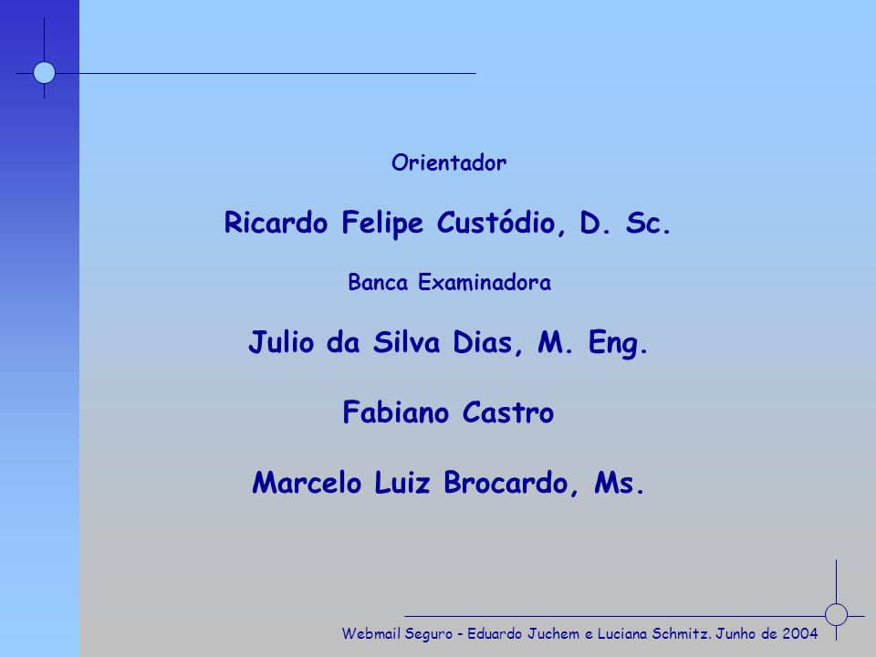 Ricardo Felipe Custódio, D. Sc.