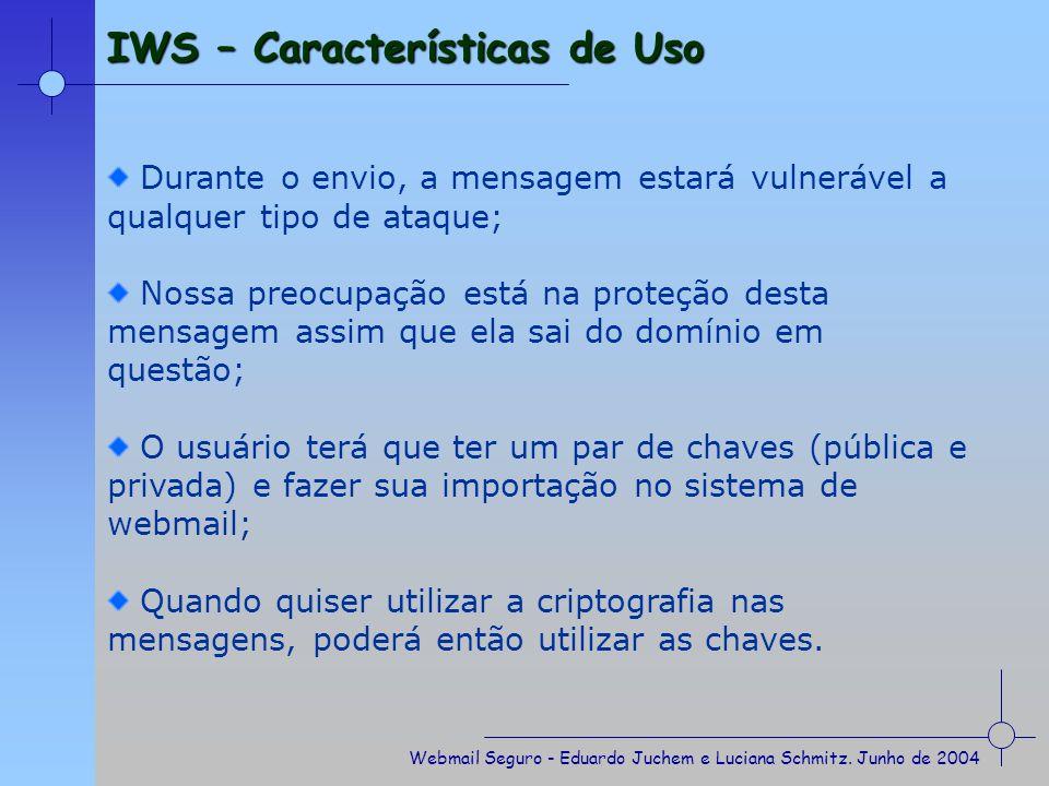 IWS – Características de Uso