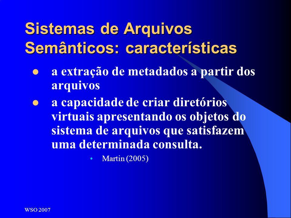 Sistemas de Arquivos Semânticos: características