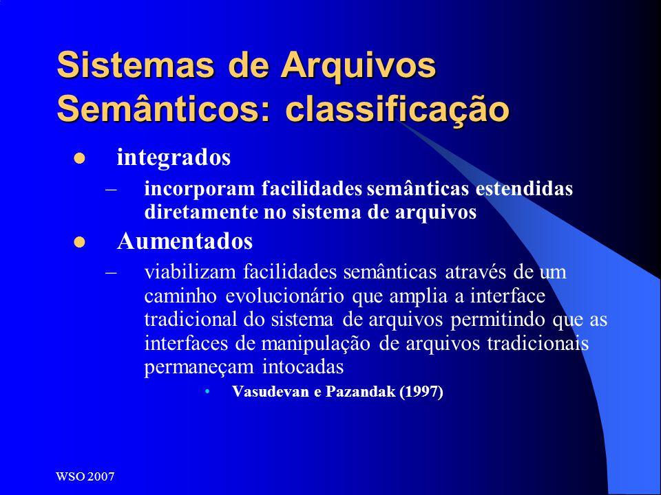 Sistemas de Arquivos Semânticos: classificação