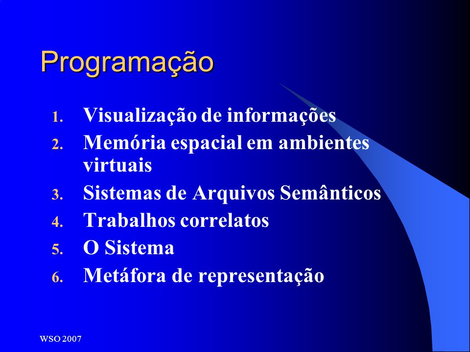 Programação Visualização de informações