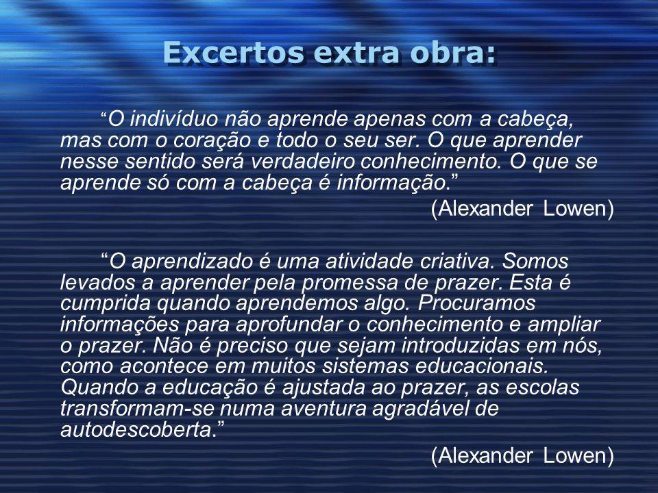 Excertos extra obra: (Alexander Lowen)