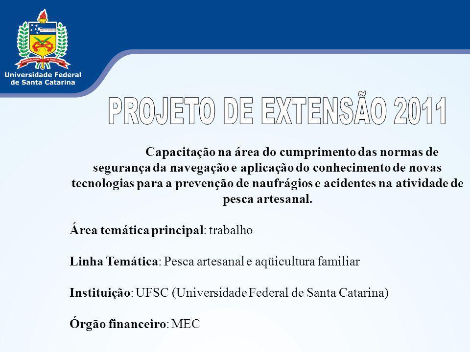 PROJETO DE EXTENSÃO 2011
