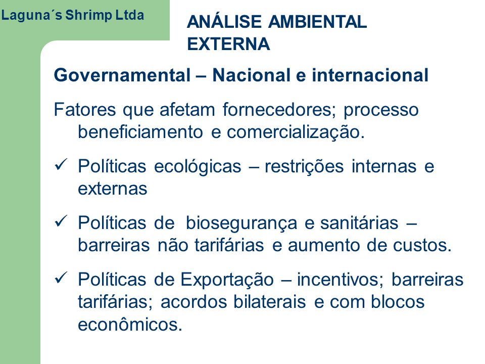 Governamental – Nacional e internacional