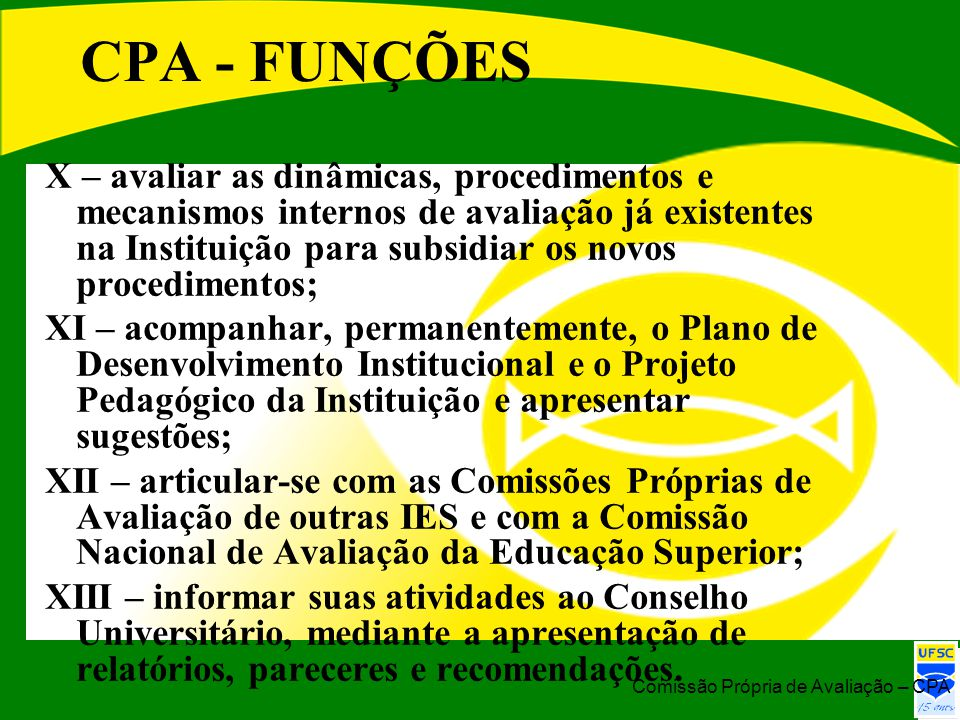 CPA - FUNÇÕES