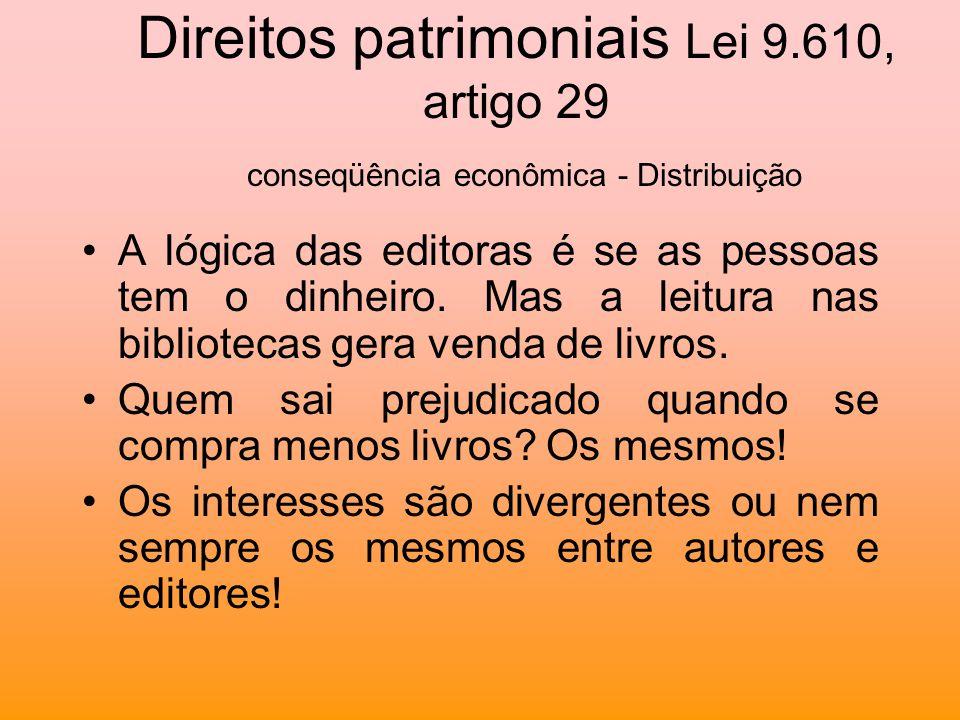 Direitos patrimoniais Lei 9