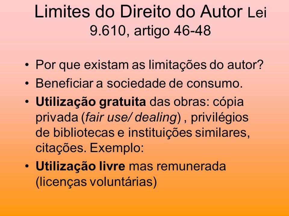 Limites do Direito do Autor Lei 9.610, artigo 46-48
