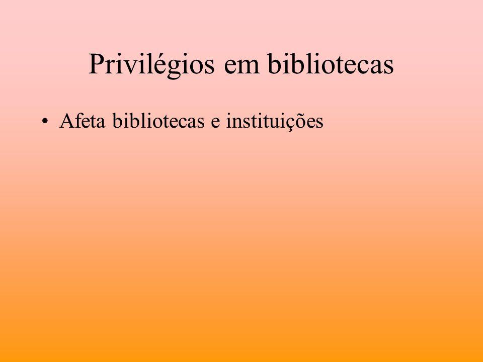 Privilégios em bibliotecas