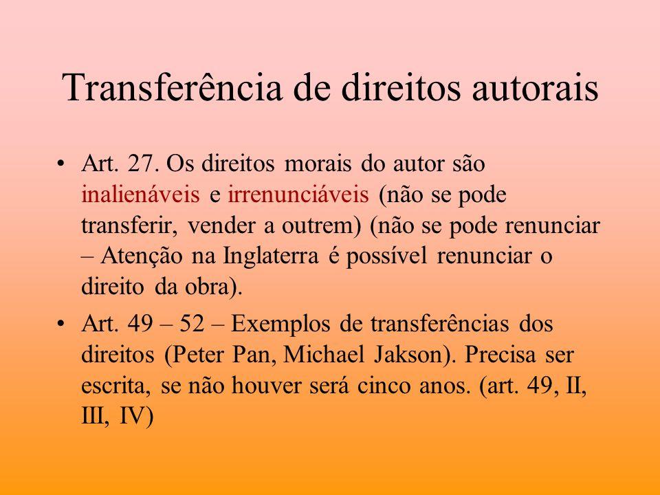 Transferência de direitos autorais