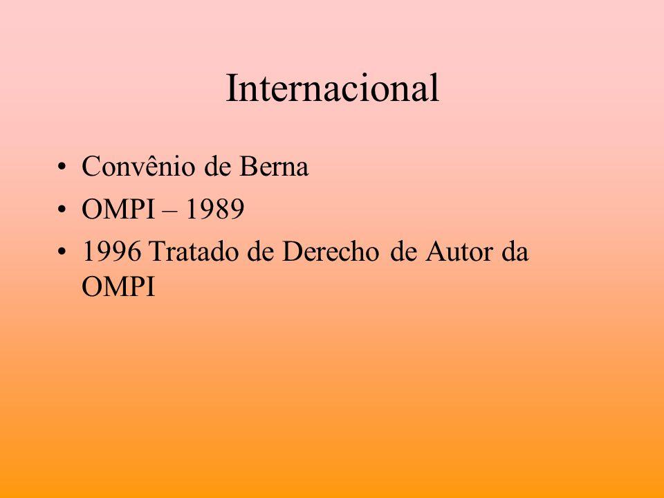 Internacional Convênio de Berna OMPI – 1989