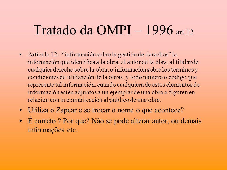 Tratado da OMPI – 1996 art.12