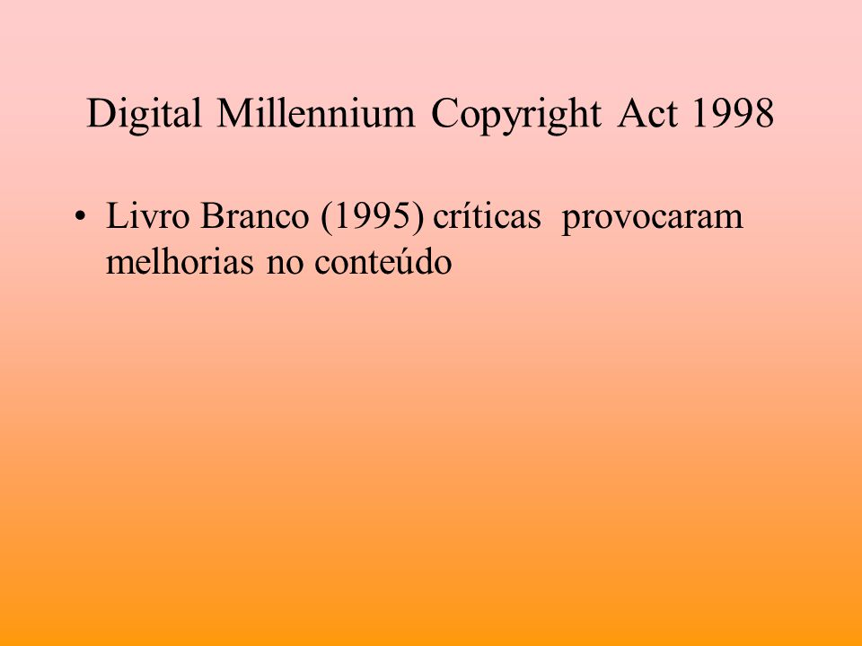 Digital Millennium Copyright Act 1998