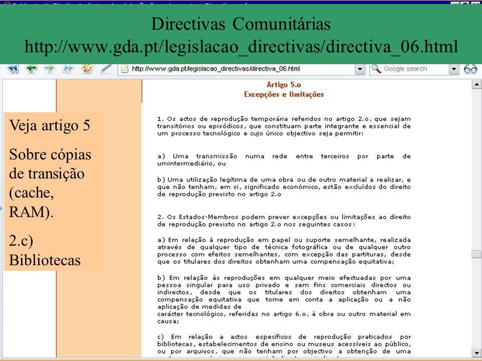 Directivas Comunitárias http://www. gda