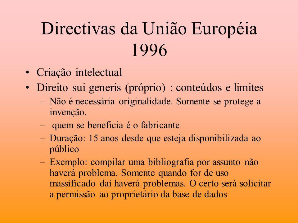 Directivas da União Européia 1996
