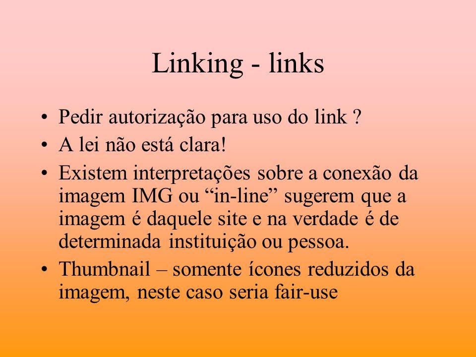 Linking - links Pedir autorização para uso do link