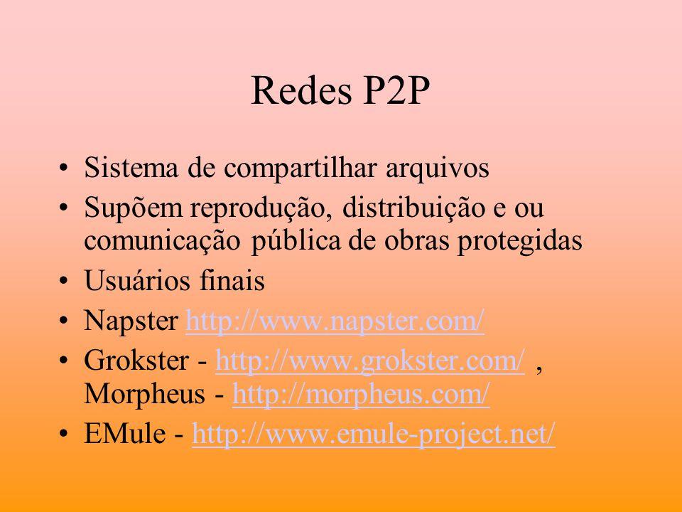 Redes P2P Sistema de compartilhar arquivos