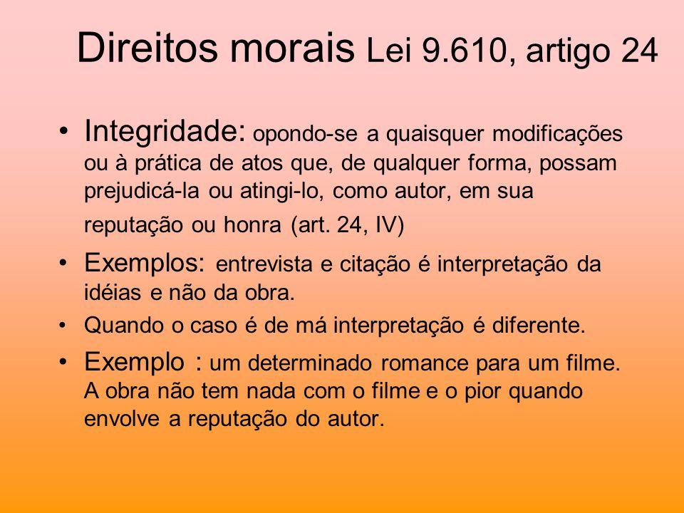 Direitos morais Lei 9.610, artigo 24