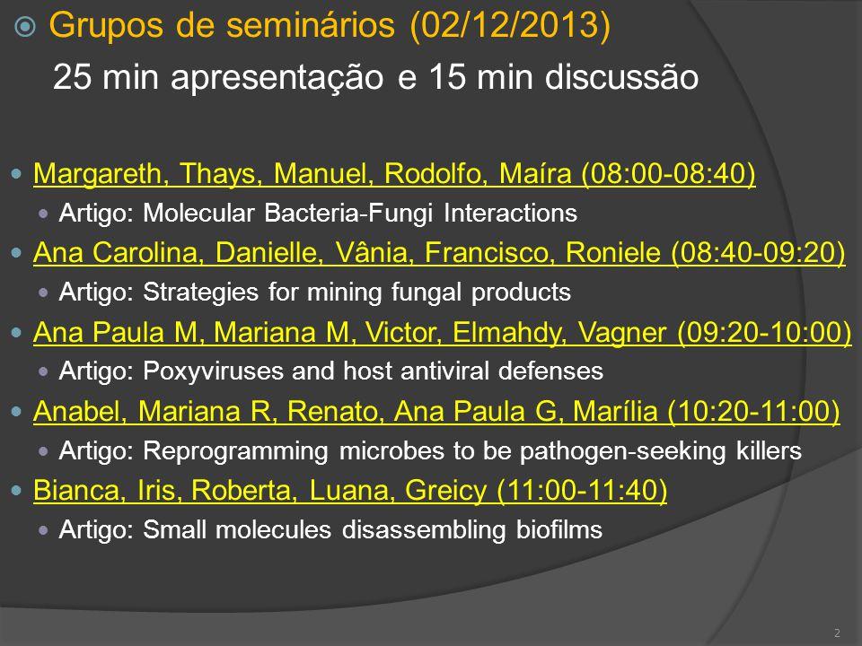 Grupos de seminários (02/12/2013)