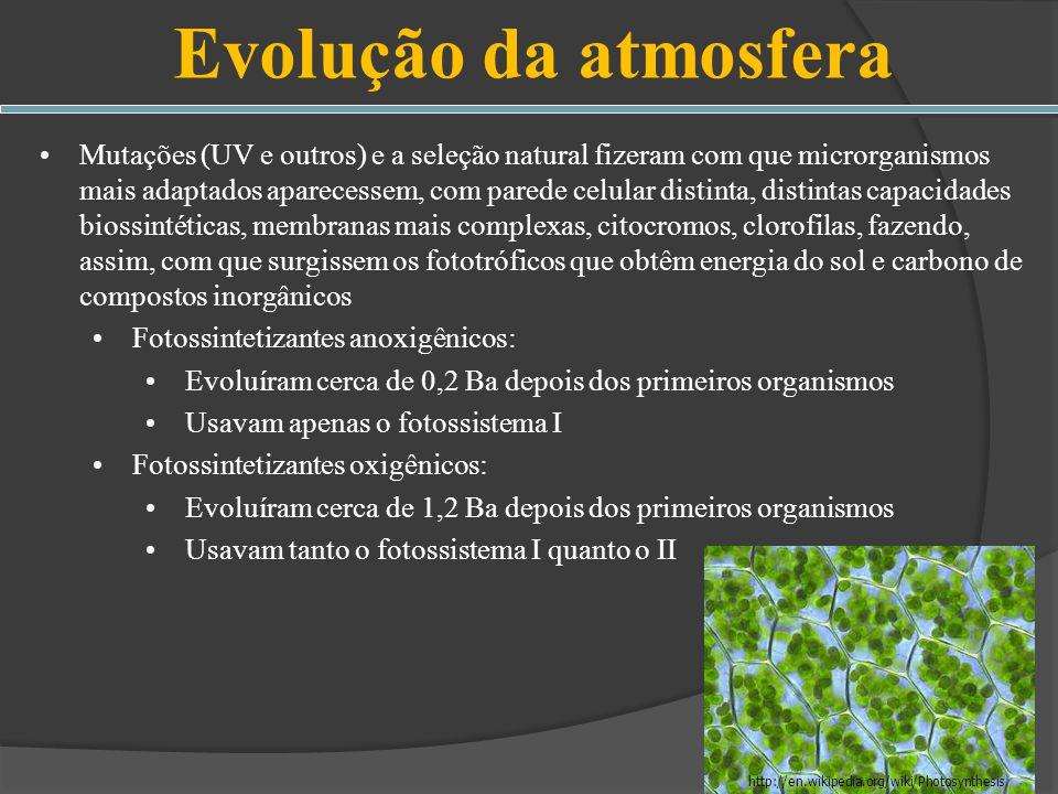 Evolução da atmosfera