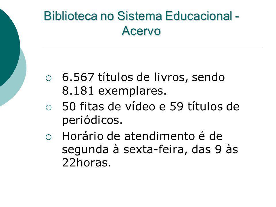 Biblioteca no Sistema Educacional - Acervo