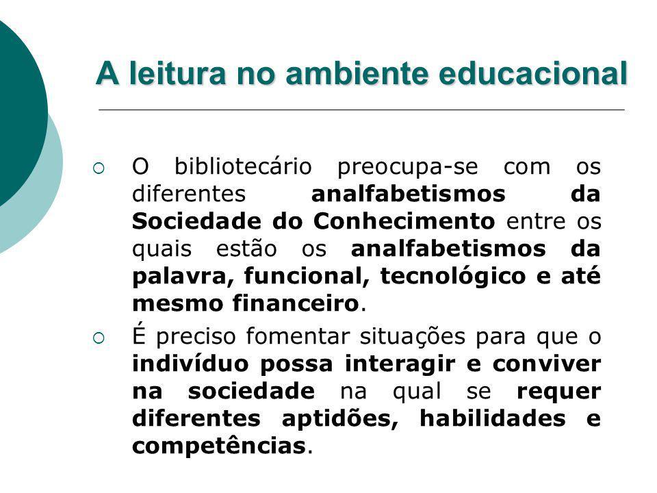 A leitura no ambiente educacional